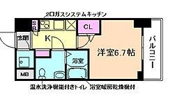 レジュールアッシュ梅田NEX[7階]の間取り