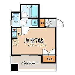 神奈川県横浜市神奈川区松本町6丁目の賃貸マンションの間取り
