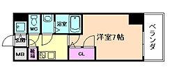 ファーストステージ江戸堀パークサイド[2階]の間取り