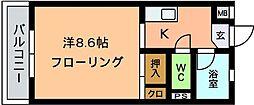 オーシャン5[102号室]の間取り