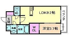 エールリベルテ大阪WEST[5階]の間取り