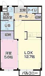 愛知県一宮市平島1丁目の賃貸アパートの間取り