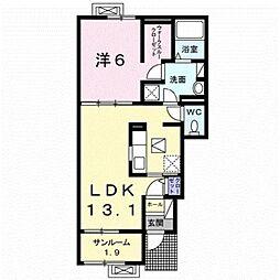 新潟県加茂市石川2丁目の賃貸アパートの間取り