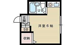 メゾンガロパン1[5階]の間取り