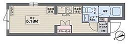 西武新宿線 新井薬師前駅 徒歩7分の賃貸マンション 2階ワンルームの間取り
