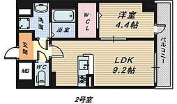 大阪府堺市堺区材木町東1丁の賃貸マンションの間取り