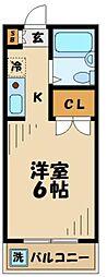 東京都多摩市馬引沢1の賃貸マンションの間取り