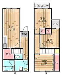 DIA住之江I番館[1階]の間取り