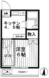 桜台ローズハイム1[2階]の間取り