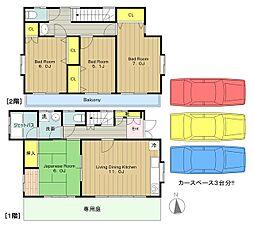 [一戸建] 東京都八王子市越野 の賃貸【/】の間取り