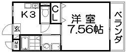 ノーブルコート[1階]の間取り