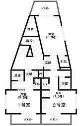 陶山第2ビル[402号室]の間取り
