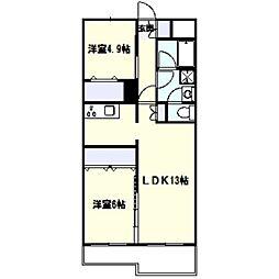 パラシオン栄昇[1階]の間取り
