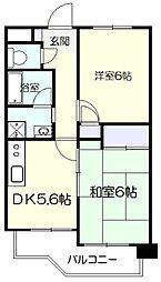 ビューホームズII[1階]の間取り