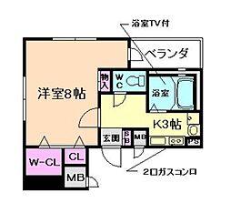 メゾン・ル・ロア[11階]の間取り
