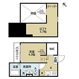 埼玉県さいたま市岩槻区南平野3丁目の賃貸アパートの間取り