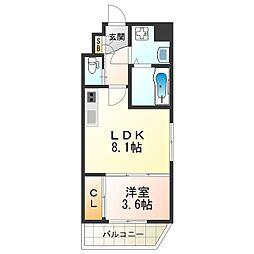 KAUNIS HIRANO(カウニス ヒラノ) 10階1LDKの間取り