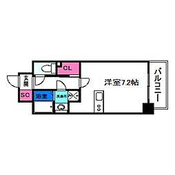 SOAR NAGAI EKIMAE 5階ワンルームの間取り