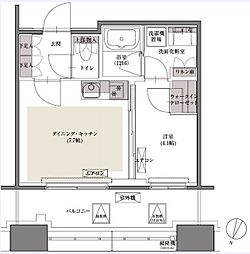 東京メトロ有楽町線 護国寺駅 徒歩2分の賃貸マンション 6階1DKの間取り