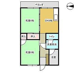 古賀第一ビル[306号室]の間取り