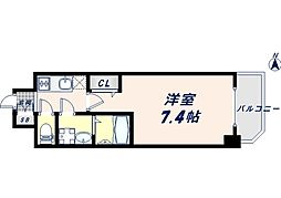 JR大阪環状線 寺田町駅 徒歩8分の賃貸マンション 13階1Kの間取り