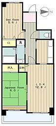 コーポレート相模原三丁目[8階]の間取り