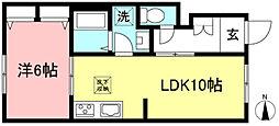 シャーメゾン・セレッソ 1階1LDKの間取り