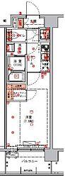 (仮称)東京アーバンスクエアレジデンス002 6階1Kの間取り