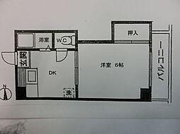 谷川ビル[201号室]の間取り