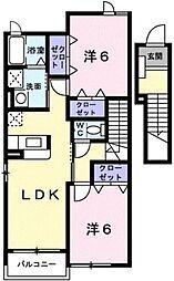 メゾン・シンフォニーB[2階]の間取り