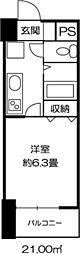 ドミール錦糸町[0708号室]の間取り