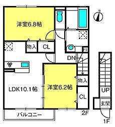 (仮)D-room桜区南元宿2丁目 I[201号室]の間取り