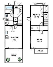 [テラスハウス] 神奈川県川崎市宮前区鷺沼2丁目 の賃貸【/】の間取り