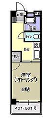 コーポ松永[501号室]の間取り