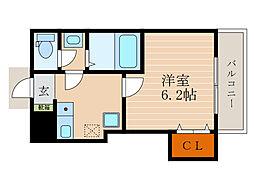 滋賀県彦根市後三条町の賃貸アパートの間取り