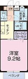 愛知県豊橋市一色町の賃貸アパートの間取り