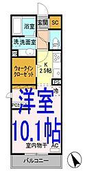D-room神鳥谷5丁目[305号室]の間取り