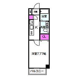 Osaka Metro長堀鶴見緑地線 蒲生四丁目駅 徒歩2分の賃貸マンション 7階1Kの間取り