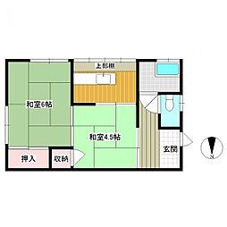 西村アパート[3号室]の間取り