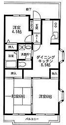神奈川県川崎市宮前区有馬8丁目の賃貸マンションの間取り