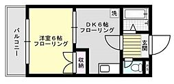ディアコート松島2号館[401号室]の間取り