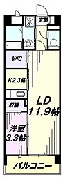 JR南武線 矢川駅 徒歩5分の賃貸マンション 1階1LDKの間取り