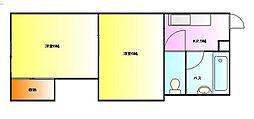 グリーンパレス毛呂[1階]の間取り