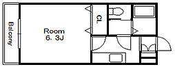 ピアコート[2階]の間取り