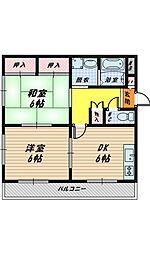 大阪府大阪市城東区関目4丁目の賃貸アパートの間取り