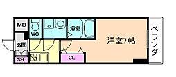 ファーストステージ梅田WEST[5階]の間取り