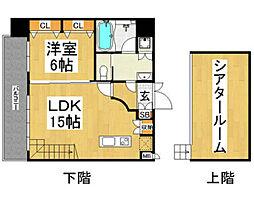 プライムアーバン博多 13階1SLDKの間取り