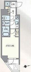 東京メトロ丸ノ内線 本郷三丁目駅 徒歩7分の賃貸マンション 6階1Kの間取り
