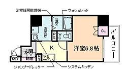 エイペックス京町堀[4階]の間取り
