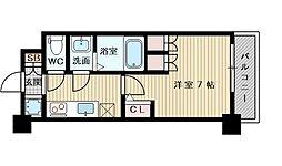 アルティザ淡路駅東 5階1Kの間取り
